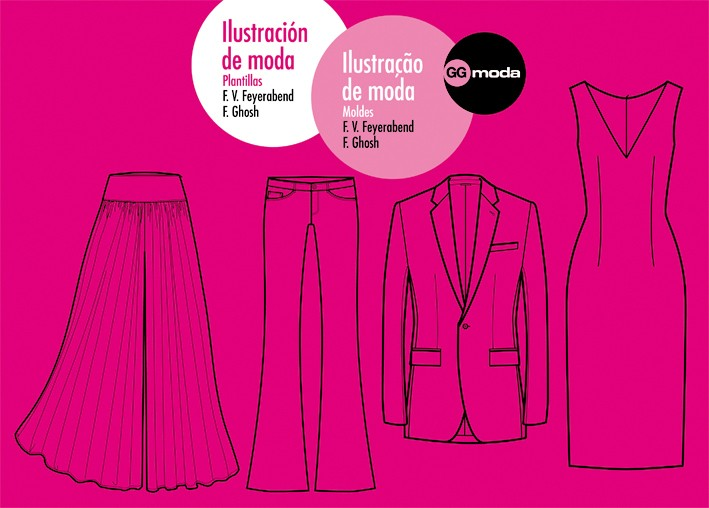 Ilustración de moda. Plantillas